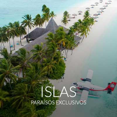 Viajes a islas. Paraísos exclusivos