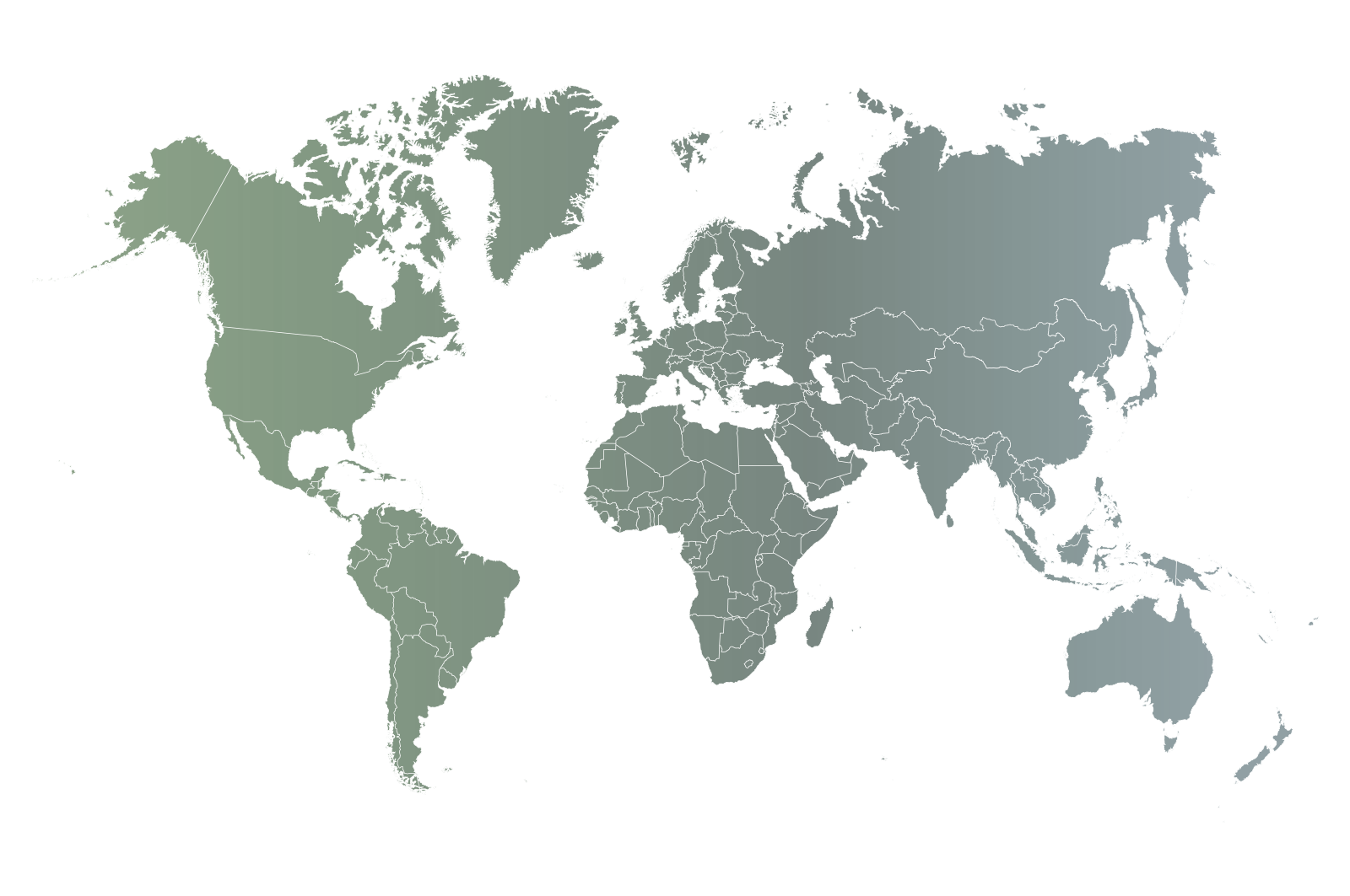 mapa de mundo selección destinos de lujo